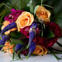Tangerine Orchid Flowers, wedding florals