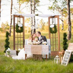 Blushing Pearm, wedding decor and staging