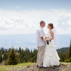 A couple married on a mounatin top at Silver Star Resort