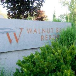 Walnut Beach Resort sign