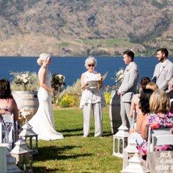 Wedding offiaciant Bonnie Thorne during an Okanagan ceremony