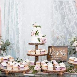 Wedding cake and cupcakes by Kaleena Cakes
